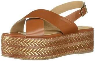 446c43d9042a Kaanas Women s METALIK ADA Crossover Platform Wedge Sling Back Opentoe  Sandal Shoe Heeled