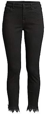 7 For All Mankind Jen7 by Women's Lace-Hem Ankle Skinny Jeans