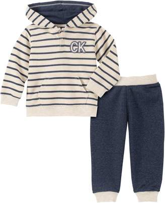 Calvin Klein Baby Boy's 2-Piece French Terry Hoodie Jersey Jogger Pants Set