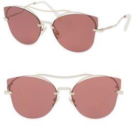 Miu MiuMiu Miu 62MM Mirrored Butterfly Sunglasses