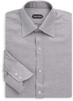 Tom Ford Herringbone Cotton Dress Shirt