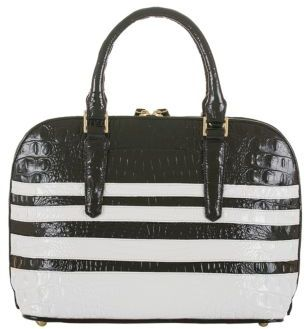 Brahmin Vivian Leather Colorblock Stripe Bag