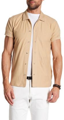 C/89 MEN Camp Short Sleeve Regular Fit Shirt $112.50 thestylecure.com