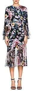 Prabal Gurung Women's Floral Silk Dress-Black Floral