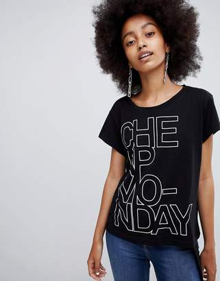 Cheap Monday Concrete Logo Have T-Shirt