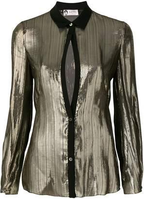 Lanvin metallic sheer shirt
