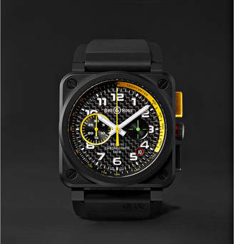Bell & Ross Limited Edition Br 03-94 Rs17 42mm Ceramic And Rubber Chronograph Watch