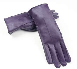 Long Keeper Women's Touchscreen Texting Driving Winter Warm PU Leather Gloves