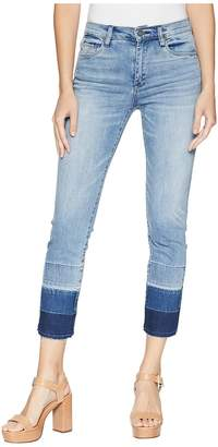 Blank NYC High-Rise Crop Straight Leg with Detailing On Bottom in Shaken, Not Stirred Women's Jeans