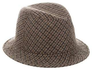 Borsalino Plaid Wool Fedora