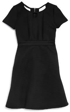 Us Angels Short Sleeve Ribbed Fit-and-Flare Dress - Big Kid