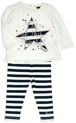 GUESS Girl's Two-Piece Shirt And Leggings Set