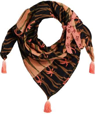 Scotch & Soda Printed Tassel Scarf