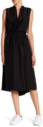 VINCE. Ruched Silk Dress $375 thestylecure.com