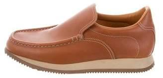 Hermes Leather Slip-On Sneakers