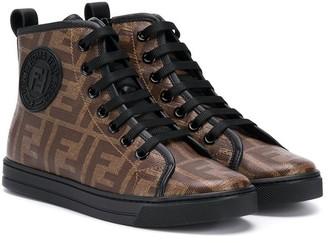 Fendi lace up hi-tops sneakers