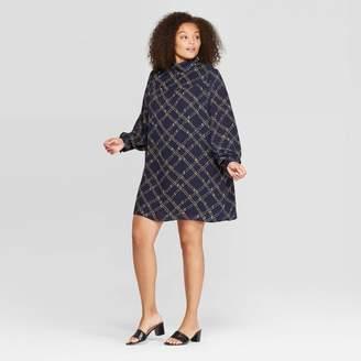 Who What Wear Women's Plus Size Long Sleeve Mock Turtleneck Mini Dress - Who What WearTM