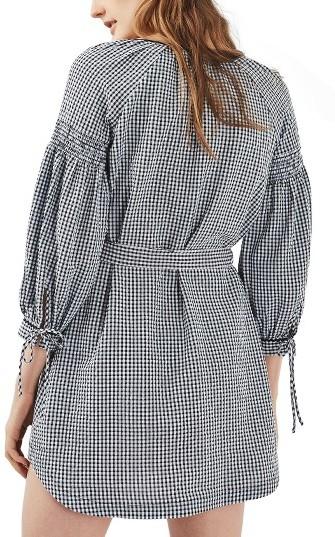 Women's Topshop Gingham Smock Dress 3