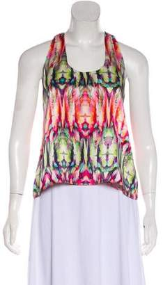 Alexis Printed Scoop Neck Blouse