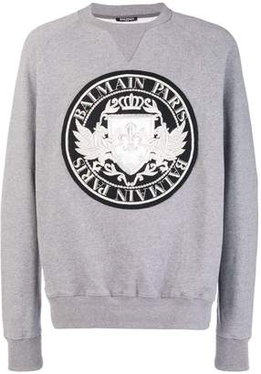 Balmain logo patch sweatshirt