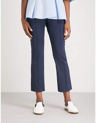 Sportmax Eritrea tapered cropped mid-rise stretch-crepe trousers