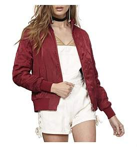 MinkPink Pathways Bomber Jacket