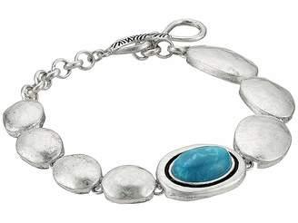 The Sak Oval Stone Line Bracelet