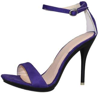 46795f38bb8 CAMSSOO Womens Open Toe Ankle Strap High Heel Dress Wedding Party Sandal  Size 6 EU36