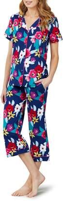 BedHead Print Crop Knit Pajamas
