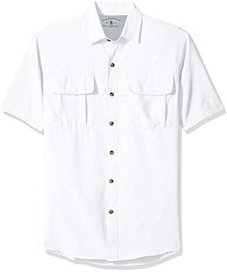 c0cf2d6f47f G.H. Bass & Co. Men's Explorer Point Collar Short Sleeve Fishing Shirt