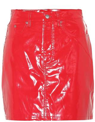 Calvin Klein Jeans Faux patent leather miniskirt