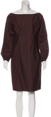 Saint Laurent Ruche-Accented Mini Dress