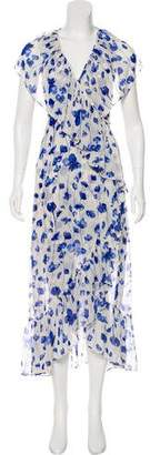 MISA Los Angeles Floral Print Maxi Dress