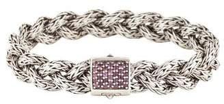 John Hardy Sapphire Classic Chain Small Braided Bracelet