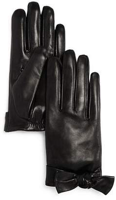 Kate Spade Bow Detail Leather Gloves