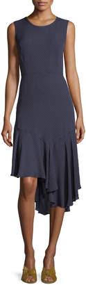 Neiman Marcus Kobi Halperin Bailee Ruffle-Hem Dotted Dress