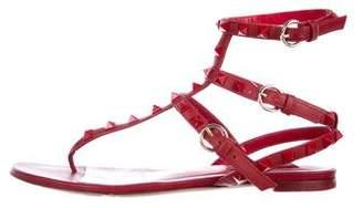 Valentino Studed T-Strap Sandals
