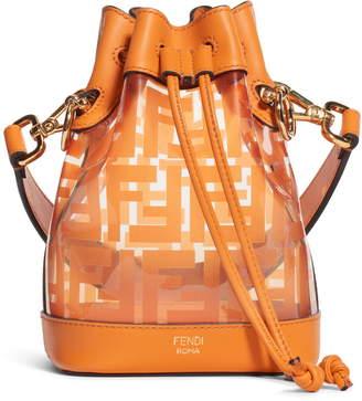 Fendi Mini Mon Tresor Transparent Bucket Bag