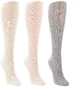Tashon Pointelle Knit Knee High Boot SocksSet of Three