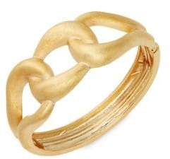 Rivka Friedman 18K Goldplated Satin Hinge Cuff