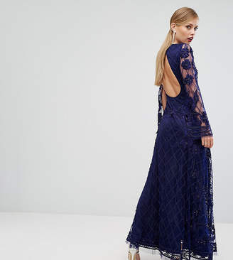 6e7eb81d0e A Star Is Born Embellished Maxi Dress With Long Split Sleeve
