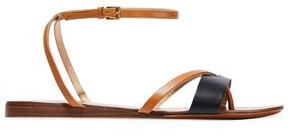 Halston Karmen Two-tone Leather Sandals