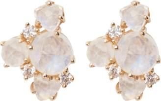 Suzanne Kalan Trillion Rainbow Moonstone Stud Earrings