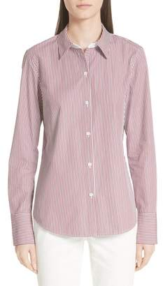 Lafayette 148 New York Linley Stretch Cotton Shirt