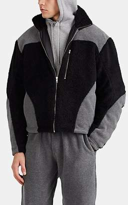 GmbH Men's Colorblocked Fleece Jacket - Black