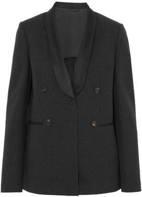 Brunello Cucinelli Satin-Trimmed Pima Cotton-Blend Blazer