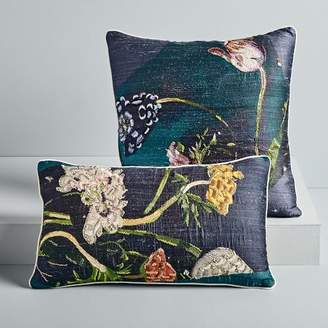 west elm Photo Floral Painted Brocade Pillow Covers