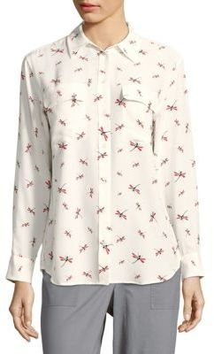 Equipment Signature Insect-Print Shirt