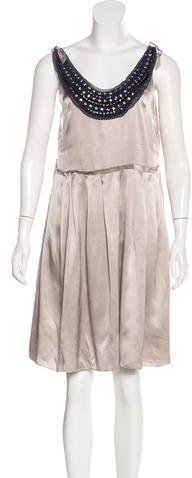 3.1 Phillip Lim 3.1 Phillip Lim Crystal-Embellishment Silk Dress