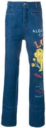 Loewe Lion straight jeans